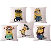 Wholesale Minions Casing - Lovely Minions Fashion Creative Car Sofa Bed Linen Pillowcase Fashion Home Decor Throw Pillow Case 18x18Inch