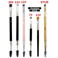 Wholesale dhl makeup brush set - Anastasia Brushes Makeup Brush Double Eyebrow Brush Head Brushs AN Oblique Double Head Brushs Free DHL 044
