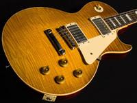 echte vintage gitarre großhandel-Custom Shop Limitierte Auflage True Historic 1960 Neuauflage Relic Einteilige E-Gitarre - Tom Murphy Im Alter von Vintage Lemon Burst