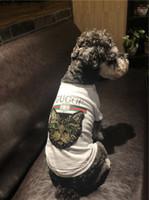 black shirt small 2018 - G letter Spring Fashion Short Sleeve Hoodies Tide Brand Cute Ragdoll Teddy Apparel Small Dog Cat Fashion Clothing