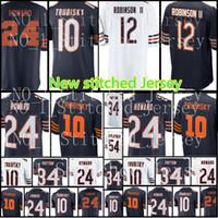Wholesale 12 Bearing - New Bears 12 Allen Robinson II Jersey Men's 10 Mitchell Trubisky 24 Howard 34 Walter Payton 54 Brian Urlacher Football Jersey