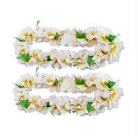 ingrosso decorazioni del partito plumeria-Wedding Garland Hawaiian Artificial Flowers Ghirlanda Plumeria Collana Fancy Dress Party Fun Beach Decorazione del partito