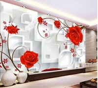 ткань цветок домой оптовых-3d комната обои ткань пользовательские фото фэнтези цветок ТВ фон стены обустройство дома 3D настенные росписи обои для стен 3 d печать ткани