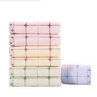 textiles de serviettes achat en gros de-Serviettes de coton épais pur ménage doux lave grand satin visage serviette eau absorption portable maison textiles de gros 7jh gg