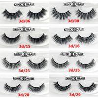 Wholesale Siberian Mink Eyelash Extension - 12 styles Selling 1pair lot 100% Real Siberian 3D Mink Full Strip False Eyelash Long Individual Eyelashes Mink Lashes Extension