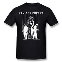 fantoches vermelhos venda por atacado-Atacado Hombre Algodão Você É Fantoche Trump T-shirt Camisetas Hombre O Pescoço Vermelho de Manga Curta T-Shirt Tamanho Grande Lazer T-shirt
