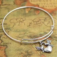 ingrosso fascini del braccialetto degli uccelli di amore-I braccialetti di fascino del braccialetto dell'uccello dell'uccello 12pcs / lot adattano i monili dell'uccello di amore