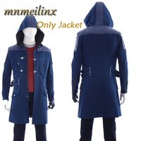 Wholesale Devil May Cry Nero Cosplay Costume Jacket Long Coat Hoodie Trench Halloween Costumes Unisex Any Size Custom Made