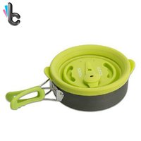 Wholesale flute whistle online - Magic Flute Multifunctional Kettle Whistle Outdoor Camping Picnic Silicone Cover Pan Frying Pan Cookware