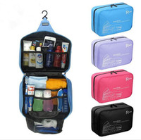 Wholesale korean makeup storage for sale - Group buy waterproof Hanging Travel Cosmetic Bag Women Zipper Make Up Bag Polyester big Capacity Makeup case handbag Organizer Storage Wash Bath Bag