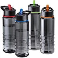 Wholesale bike bicycle aluminum water resale online - Flip Tritan With Straw Water Bottle Drinks Sport Gym Hydration Cup Bike Bicycle Cycling Hiking Portable Kettle Novelty Design yx ZZ