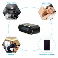 Wholesale Mini Table Clocks - 1080P H.264 Wifi Table Clock Camera Alarm Setting Mini Camera IR Night Vision Wifi Cam IP Clock Camera Mini DV DVR Camcorder