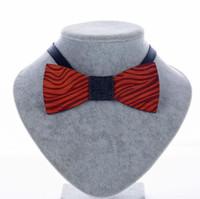 ingrosso zebra bowtie-Cravatte a farfalla di nuovo modo dell'annata in legno di palissandro intagliato a mano grano di zebra per la cravatta di legno di nozze del signore spedizione gratuita