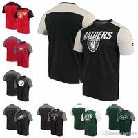 blok t gömlek toptan satış-Renk bloğu San Francisco 49ers Pittsburgh Steelers Oakland Raiders Fanatikler Markalı İkonik Renk Bloke T-Shirt tarafından New York Jets Pro Hattı