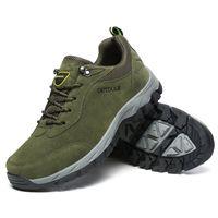 botas us14 venda por atacado-(Tamanho us14 15) dos homens de camurça de couro calçados esportivos de corrida ao ar livre caminhadas botas de escalada trekking verde marrom cinza grande tamanho eur39-49