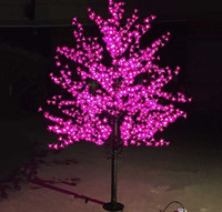 ingrosso ha condotto l'albero artificiale della ciliegia chiara-2m 6.5ft altezza LED artificiale Cherry Blossom alberi luce di Natale 1152 pz LED lampadine 110/220 VAC impermeabile fairy garden decor LLFA