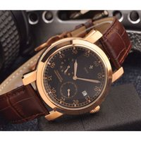 Wholesale genuine mens brown leather belts online - Luxury watch mens watches automatic mechanical VC0917 genuine cow leather belt Chronometer Steel Wristwatch orologio di lusso