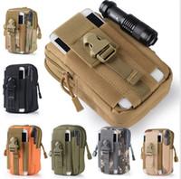 ingrosso portafoglio del sacchetto della cinghia di iphone-Custodia per cellulare con cerniera esterna Custodia per fondina con cerniera militare per iPhone / Samsung