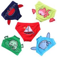 kızlar bikini yüzme şortları toptan satış-Çocuk Bebek Yüzmek mayo Sevimli Çocuk Mayo Erkek Kız Mayo Karikatür Hayvanlar Desen Bebek yüzmek bezi bikini Şort M ...