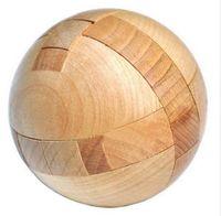magic sphäre puzzle großhandel-Holzpuzzle Magic Ball Rätsel Toy Intelligence Game Sphere Puzzles für Erwachsene / Kinder