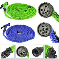 Wholesale hose 75ft green online - Garden Hose FT FT FT FT Flexible Garden Water Hose With Spray Gun Car Wash Pipe Retractable Watering Equipments CCA9999
