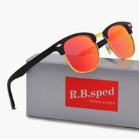 фирменные солнцезащитные очки кошачий глаз оптовых-Бренд дизайнер Поляризовыванная Кошачий глаз Солнцезащитные очки для мужчин женщин высокое качество Спорт ВС стекла поляроидный объектив gafas-де-сол с полной аксессуары