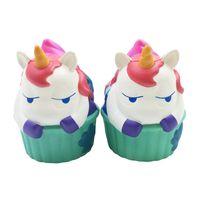Wholesale hippo toys - Kawaii Unicorn Squishy Cupcake Hippo Slow Rising Cute Animal Jumbo Soft Squzze Decompression Toys Phone Charms Gift Novelty Items OOA4992