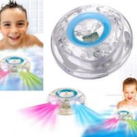 banyo oyuncak led toptan satış-Havuz ışık Yüzer Sualtı LED Glow Gösterisi Yüzme Havuzu Küvet Spa Lamba Banyo Işık Parti küvette oyuncak banyo su led ışık
