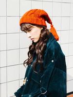 örme şapkalar toptan satış-Karakter kız saçak örgü yün şapka çocuk kış güzel Kore versiyonu örme şapka sıcak ruhu şapka gelgit
