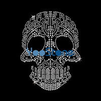 Wholesale face mask rhinestones for sale - Group buy Dazzling Skull Face Mask Hot Fix Rhinestone Transfers Iron On Motif For Clothes