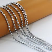 ingrosso catena a sfere 4mm-Argento di alta qualità in acciaio inox 4mm * 60cm palla perline catena collana uomini donne gioielli moda semplice rotonda perline catene
