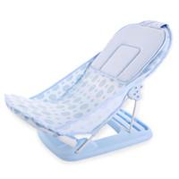 bebek yatakları toptan satış-Katlanabilir Bebek küvet / yatak / ped Taşınabilir bebek banyo sandalye / raf duş ağları yenidoğan koltuk bebek küvet desteği
