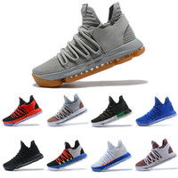 Wholesale Kd Shoes High Cut - 2018 Men Basketball Shoes KD 10 Oreo Still Zoom KD10 Anniversary White Red Black High Quality Kevin Durant 10s Athletic Shoes Size 40-46