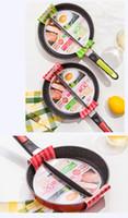 картофель фри оптовых-Eco-Friendly Life 83 20 см сковорода для завтрака Non-Stick 2 в 1 сковорода Non-Smoke с разделенным грилем для жареных яиц и бекона