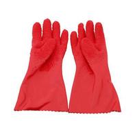 Wholesale wholesale glove scrubs - 1 Pair New Waterproof Quick Peeling Tater Mitts Potato cucumber Chinese yam Scrubbing Gloves Vegetable Cleaning Tools GGA160 120pcs