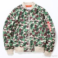 Wholesale l style flights - New Autumn men Outerwear Camo Camouflage Style MA1 flight Bomber Jacket Coat Men Baseball Jacket China Size