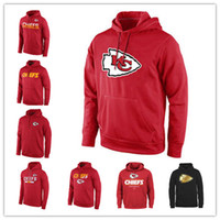 pull d'or achat en gros de-Kansas City Sideline Chiefs Circuit Sweat-shirt de sport rouge Performance Pro Line Collection Gold Black Pullover Hoodies