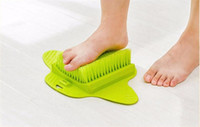 ingrosso doccia pulita piedi-Spazzola per doccia Massaggiatore per piedi Scrub per il piede Spazzoloni per il massaggio Scrubber esfoliante Piedi Spa Shower Rimuovi Sole Spazzola per la pulizia della pelle morta