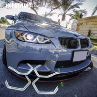 ingrosso molto auto-Hopstyling 4x Very Cool SMD LED Angel eyes per F30 3Series 2013 M3 M5 E90 M4 Style HaloRing 6500K LED Headlight Car-Styling