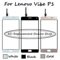 orijinal vibe toptan satış-Lenovo Vibe P1 Için orijinal Yüksek kaliteli Dokunmatik Panel Değiştirin P1c72 P1a42 P1c58 Beyaz / Siyah / Altın dokunmatik ekran