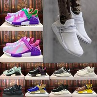 Wholesale Cotton Boxing - With Box Black Purple Equality Human Race Runner shoe Respira Holi Nerd Colette Running Shoes HU Blank Cream Williams Pharrell sport sneaker