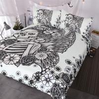 Kaufen Sie Im Großhandel Schwarze Weiße Vintage Bettwäsche 2019 Zum