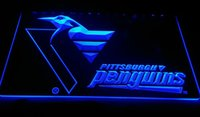 Wholesale Customized Neon Signs - F1265 Penguins-Bar-Pub NEW 3D LED Neon Light Sign Retail and Dropshipping Wholes 8 colors Customize on Demand