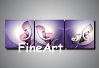 Wholesale calla lily oil painting pictures for sale - Group buy 100 hand painted calla lilies oil painting set canvas abstract canvas art wall oil painting art nature painting bedroom decoration