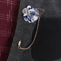 Wholesale Charms Pins - Handmade Flower Lapel Boutonniere Stick Brooch Pin Women Men Anniversary Banquet Xmas Party Charm Corsage Brooches Pins Tuxedo Suit Ornament