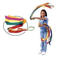 Wholesale play fitness - 2017 New Sport Dance Rainbow Ribbon Kids Gym Rhythmic Gymnastics Art Gymnastic Exercises Cheerleading Fitness