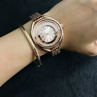 Wholesale Swan Style - Fashion swan style Brand Women's Girls crystal dial Stainless steel band Quartz Watch SW04