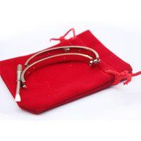 Wholesale 14k rose gold filled bracelet - 2018 Titanium Steel Love Bracelets for women rose gold silver gold Screwdriver Bangles men screw bracelet Couple Jewelry with original bag