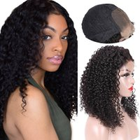 Wholesale Beauty On Line U Part Curly Lace Wigs Pre Plucked With Baby Hair Indian Virgin Hair Wigs Inch Lace Front Human Hair Wig