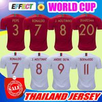 Wholesale feet foot - Portugal Soccer Jerseys 2018 World Cup Maillot de Foot CR7 CRISTIANO RONALDO 7 QUARESMA NANI J.MARIO Football kit Shirt camisa de futebol